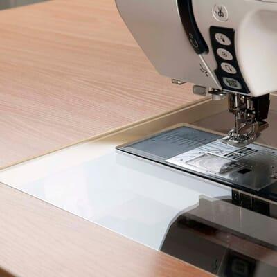 Custom acrylic insert for sewing machine