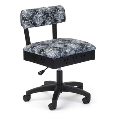 Wicked Cosplay Sewing Chair (H4205) from Arrow Sewing Furniture with adjustable height and swivel base