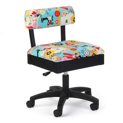 Sew Wow Sew Now Sewing Chair (H6880) from Arrow Sewing Furniture with adjustable height and swivel base