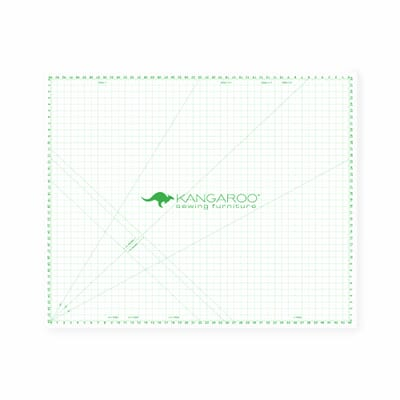 """44"""" x 38"""" Cutting Mat (MAT-C) from Kangaroo Sewing Furniture with 1 inch quilter's grid and degree angle markers"""