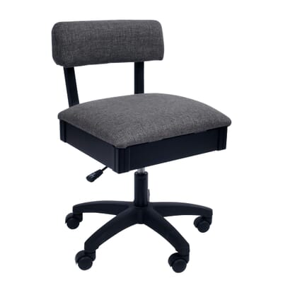 Lady Gray Sewing Chair (H8123) from Arrow Sewing Furniture with adjustable height and swivel base