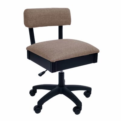 Princess Hazel Sewing Chair (H8140) from Arrow Sewing Furniture with adjustable height and swivel base