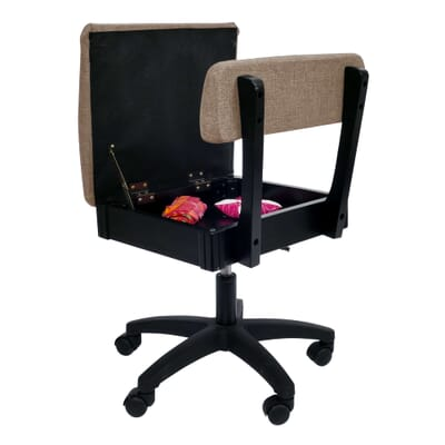 Princess Hazel Sewing Chair (H8140) from Arrow Sewing Furniture with seat open