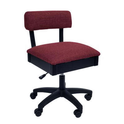 Crown Ruby Sewing Chair (H8150) from Arrow Sewing Furniture with adjustable height and swivel base