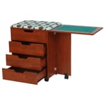 Teak Shirley Storage Caddy (445) with drawers opened