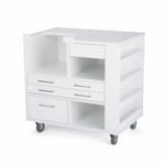 White Ava Embroidery Cabinet (9301B) from Kangaroo Sewing Furniture without embroidery machine