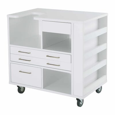 White Ava Embroidery Cabinet (9301J) from Kangaroo Sewing Furniture without embroidery machine
