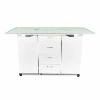 """66"""" x 36"""" Cutting Mat (MAT-K) from Kangaroo Sewing Furniture on Ash White Kookaburra Cutting Table"""