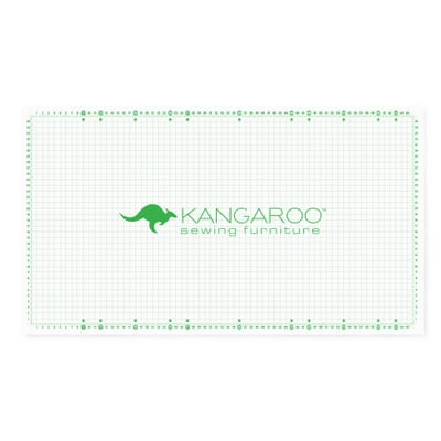 """66"""" x 36"""" Cutting Mat (MAT-K) from Kangaroo Sewing Furniture with 1 inch quilter's grid and degree angle markers"""