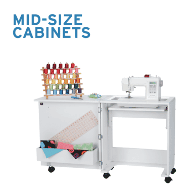 Mid-size sewing cabinets for sewers and quilters from Arrow Sewing