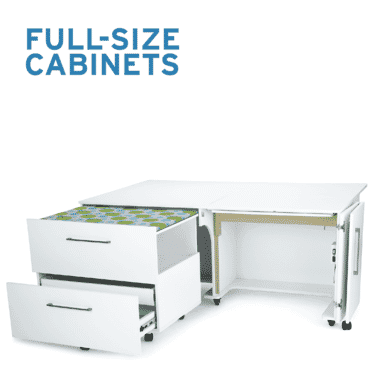 Full-size sewing cabinets for sewers and quilters from Arrow Sewing