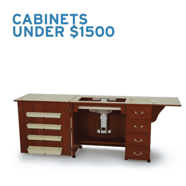 Sewing Cabinets under $1,500 from Arrow Sewing