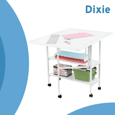 Dixie Cutting Table from Arrow Sewing Furniture with accessories