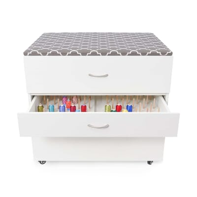 MOD Embroidery Storage Cabinet from Kangaroo Sewing Furniture with removable thread storage