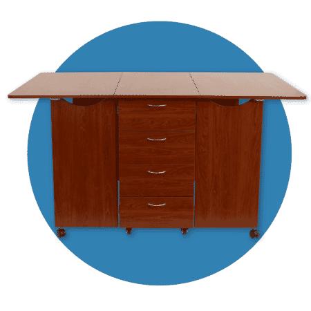 Teak Kookaburra cutting table from Kangaroo Sewing Furniture
